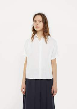 La Garçonne Moderne Linen Artist Shirt White