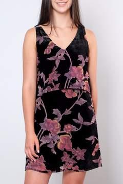 Everly Velvet Floral Dress