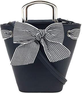 London Fog Navy Sussex Bucket Bag