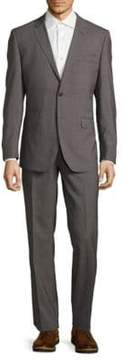 English Laundry Modern Fit Textured Wool Suit