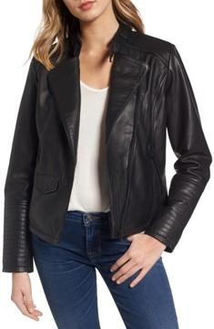 Bernardo Women's Jetta Asymmetrical Zip Leather Jacket