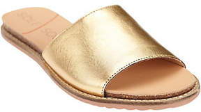 Sole Society Leather or Suede Slide Sandals - Luna
