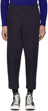 Ami Alexandre Mattiussi SSENSE Exclusive Navy Oversized Carrot Trousers