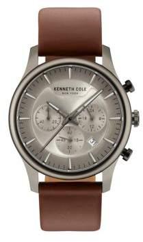 Kenneth Cole Dress Sport Leather Strap Watch