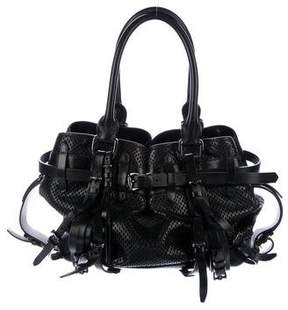 Burberry Perforated Leather Belted Shoulder Bag