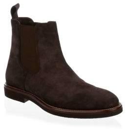 HUGO BOSS Eden Almond Toe Suede Chelsea Boots