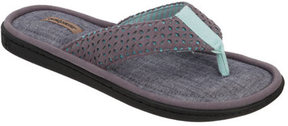 Dearfoams Women's Mixed Material Thong Sandal