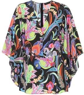 Etro Floral-printed silk-blend top