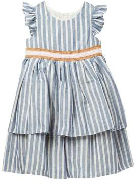Laura Ashley Ruffled Tiered Dress (Toddler & Little Girls)