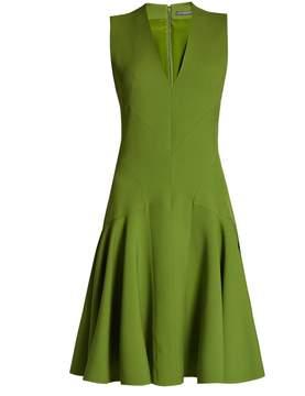 Alexander McQueen V-neck wool-blend sleeveless dress