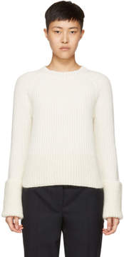 Moncler Off-White Crewneck Sweater