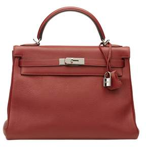 Hermes Kelly leather tote - RED - STYLE