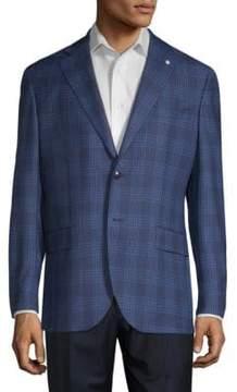 Lubiam Glen Check Wool Sportcoat