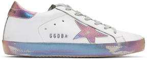 Golden Goose Deluxe Brand White Iridescent Superstar Sneakers