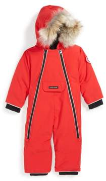 Canada Goose Infant Girl's 'Lamb' Down Snowsuit With Genuine Coyote Fur Trim