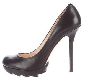 Camilla Skovgaard Leather Round-Toe Pumps