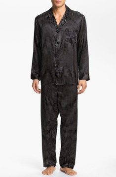 Majestic International Men's Dot Silk Pajamas