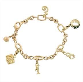 Franck Muller Talisman 18K Rose & Yellow Gold 5P Charms Diamonds Bracelet