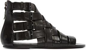 Marsèll Black Braided Gladiator Arsella Sandals