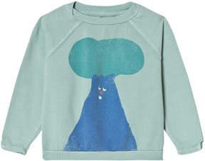 Bobo Choses Beryl Green Tree Raglan Sweatshirt