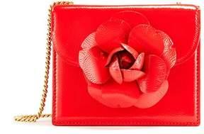 Oscar de la Renta Carnelian Patent-Leather Mini Tro Bag