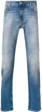 Closed washed effect denim trousers
