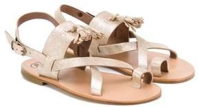 Pépé 'Salvador Oro' glitter sandals