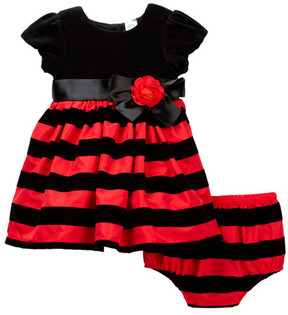 Little Me Stripe Dress and Bloomer (Baby Girls)