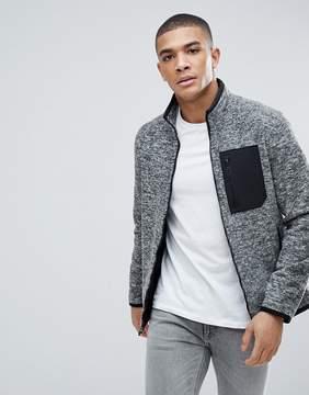 Abercrombie & Fitch Black Label Sports Full Zip Trail Fleece in Gray