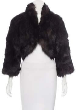 Adrienne Landau Fox Fur Crop Jacket