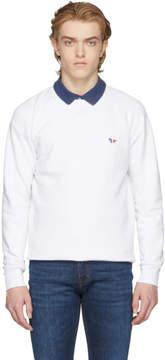MAISON KITSUNÉ White Tricolor Fox Patch Sweatshirt