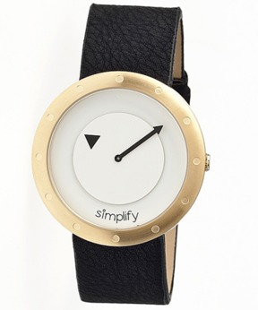Simplify The 2200 Leather-band Watch.