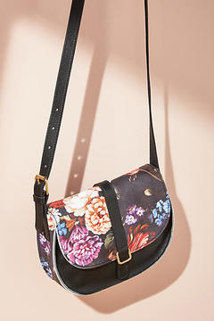 Anthropologie Floral Saddle Bag
