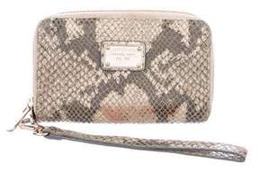 Michael Kors Embossed Suede Zip Wallet - ANIMAL PRINT - STYLE