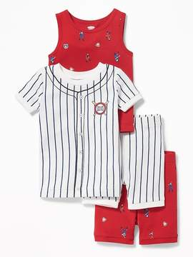 Old Navy Baseball-Graphic 4-Piece Sleep Set for Toddler & Baby