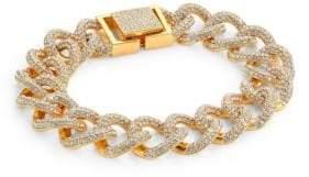 Adriana Orsini Crystal Pave Curb Link Bracelet/Goldtone