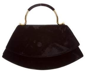 Karl Lagerfeld by Velvet Handle Bag
