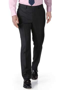 Charles Tyrwhitt Charcoal Extra Slim Fit Twill Business Suit Wool Pants Size W28 L38