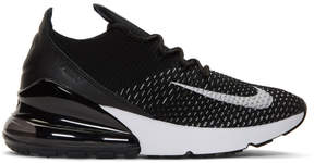 Nike Black and White Flyknit Air Max 270 Sneakers