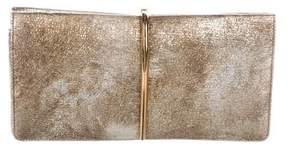 Nina Ricci Metallic Embossed Arc Clutch