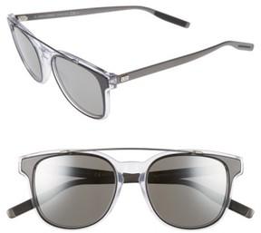 Christian Dior Men's 'Black Tie' 52Mm Sunglasses - Black Crystal Ruthenium