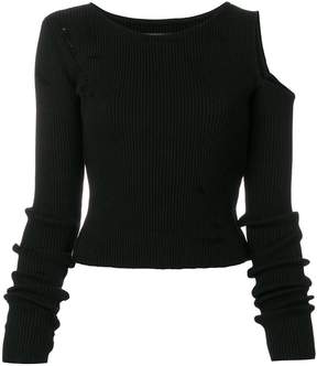Amiri cold shoulder sweater