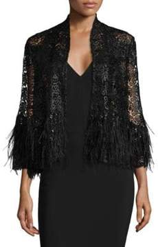 Alberto Makali Feather& Sequin Jacket