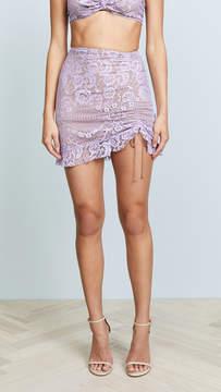 For Love & Lemons Valentina Lace Miniskirt