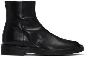 Ann Demeulemeester Black Zip Boots