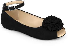 Journee Collection Black Fleur Ballet Flat