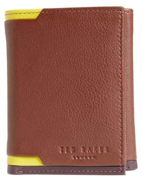 Ted Baker Vien Corner Detail Trifold Leather Wallet