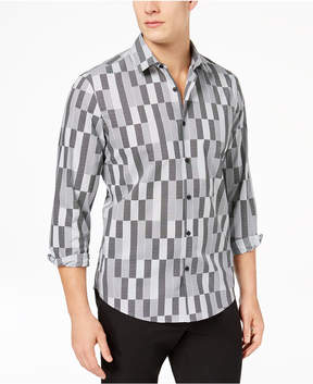 Alfani Men's Box Grid Printed Shirt, Created for Macy's