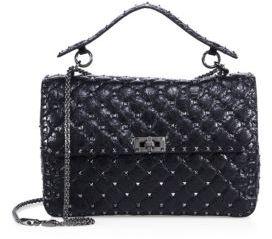 VALENTINO GARAVANI Rockstud Spike Large Quilted Leather Chain Shoulder Bag