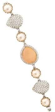 Isaac Mizrahi Resin & Crystal Link Bracelet
